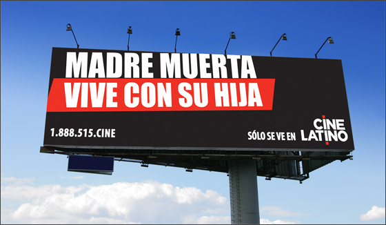 Cine Latino Billboard copy